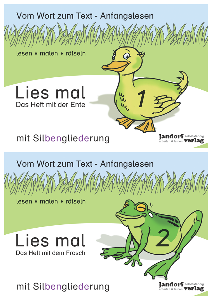 Lies mal (mit Silbengliederung) - Hefte 1 und 2 (Paket)
