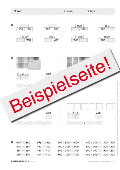 Zahlenfuchs 3 (Ausgabe Österreich) Lernzielkontrollen