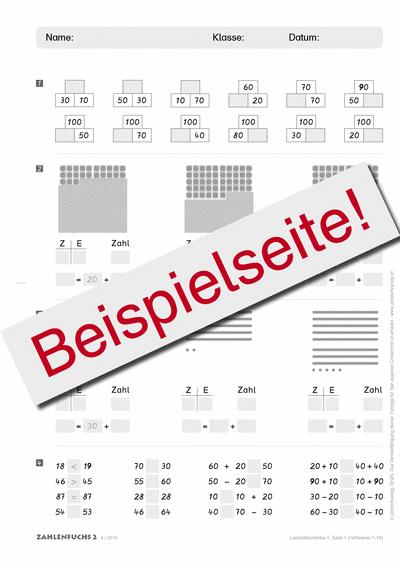Zahlenfuchs 2 (Ausgabe Österreich) Lernzielkontrollen