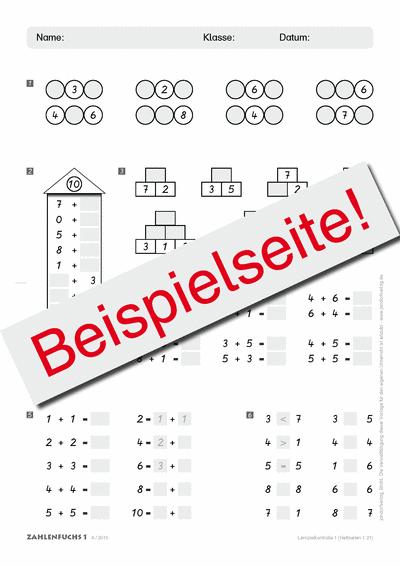 Zahlenfuchs 1 (Lernzielkontrollen)