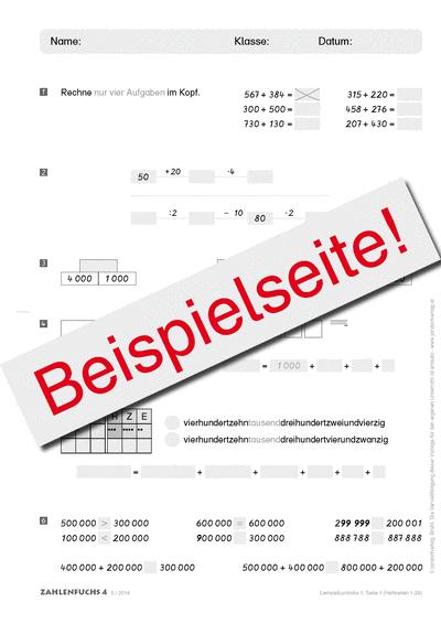 Zahlenfuchs 4 (Ausgabe Österreich) Lernzielkontrollen